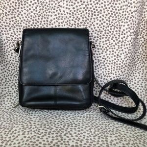 HOBO Black Leather Small Crossbody Bag
